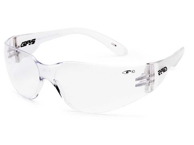 Eyres 312Rx magnifying bifocal safety glasses clear lens