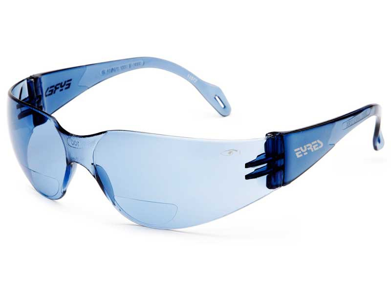 Eyres 312Rx bifocal safety glasses light blue