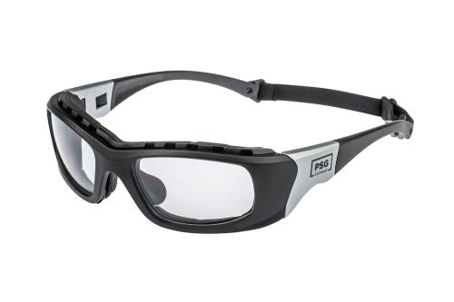 PSG Storm silver/black prescription safety glasses