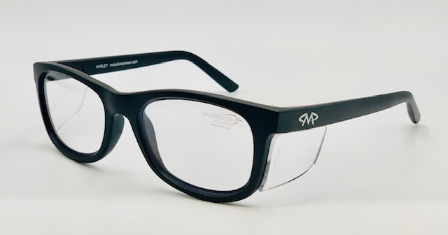 Matador Harley Matt black prescription safety glasses.