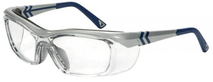 OG 225 Leader prescription safety glasses silver and blue