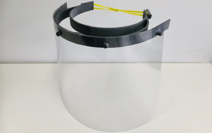 Medical face shields premium style side view