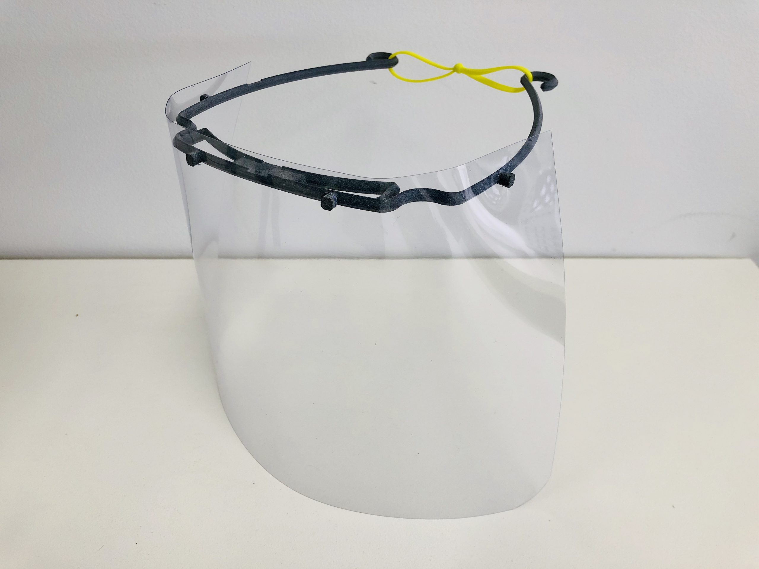 Face shield side view