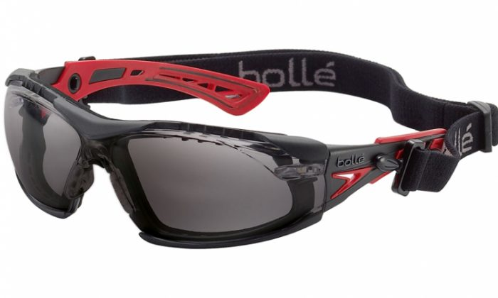 Bolle Rush Plus smoke lens safety glasses