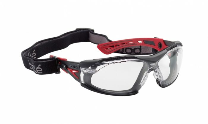 Bolle Rush Plus seal clear lens safety glasses